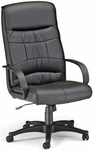 Encore Leatherette High-Back Chair - Black [507-LX-T-FS-MFO]