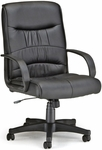 Encore Leatherette Mid-Back Chair - Black [508-LX-T-FS-MFO]
