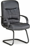 Encore Leatherette Guest Chair - Black [509-LX-T-FS-MFO]