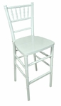 Legacy Series 45.5''H Stacking Wood Chiavari Bar Stool - White [123001-MES]