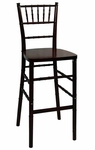 Legacy Series Stacking Wood Gloss Finish Chiavari Bar Stool - Fruitwood Finish [123008-MES]