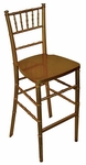 Legacy Series Stacking Wood Gloss Finish Chiavari Bar Stool - Gold Finish [123005-MES]