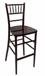 Legacy Series Stacking Wood Gloss Finish Chiavari Bar Stool - Mahogany Finish [123007-MES]