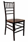 Legacy Series 36.125''H Wood Chiavari Ballroom Stack Chair - Mahogany Finish [122007-MES]