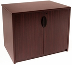 Legacy 35''W x 24''D Locking Wooden Storage Cabinet with Adjustable Shelf - Mahogany [LSC2935MH-FS-REG]