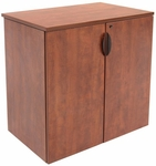 Legacy 35''H Stackable Wooden Storage Cabinet with Lock - Cherry [LSC3535CH-FS-REG]