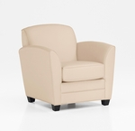LeMans Contemporary Side Chair - Buff Simulated Leather [CH100105B5080-FS-DMI]