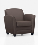 LeMans Contemporary Side Chair - Java and Brown Simulated Leather [CH100105B5070-FS-DMI]