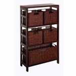 Leo 6-Pc Storage Shelf and Baskets [92625-FS-WWT]
