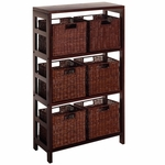 Leo 7-Pc Storage Shelf and Baskets [92610-FS-WWT]