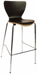 Leo Barstool - Black Laminate Seat and Chrome Frame [JA602BS-BL-BFMS]