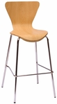 Leo Barstool - Natural Laminate Seat and Chrome Frame [JA602BS-NT-BFMS]
