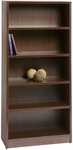 Liberty Series 66''H Wooden Bookcase with 5 Shelves - Mahogany [L-LBC-3266-M-FS-CPL]