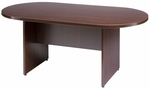 Liberty Series 35''W x 72''D Racetrack Wooden Conference Table - Mahogany [L-LCT-72-M-FS-CPL]