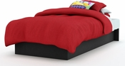 Libra Collection Black Twin Platform Bed