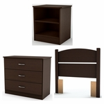 Libra Collection Twin Bedroom In A Box Chocolate [3159223-FS-SS]