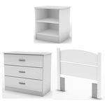 Libra Collection Twin Bedroom In A Box Pure White [3050223-FS-SS]