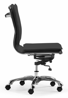 Lider Plus Armless Office Chair In Black 215218 By Zuo Modern
