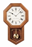 Light Oak Octagonal Face with Pendulum Wall Clock [QXH110BLH-FS-SEI]