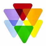 Set of 6 Multi-Colored Acrylic Triangle Disks for Light Table [WB7724T-FS-WBR]