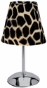 Limelights Mini Silver Table Lamp with Faux Fur Giraffe Shade