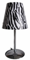 Limelights Mini Silver Table Lamp with Zebra Shade