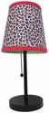 Limelights Multi Colored Cheetah Fun Prints Table Lamp