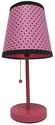 Limelights Pink and Black Polka Dot Fun Prints Table Lamp
