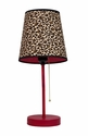 Limelights Pink and Leopard Fun Prints Table Lamp