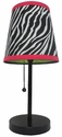 Limelights Zebra Fun Prints Table Lamp