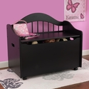 Limited Edition Childs Toy Box with Bench Seat and Flip-Top Lid - Black
