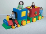 Little Train Play Center - 66''L x 32''W x 38''H [CF321-043-FS-CHF]