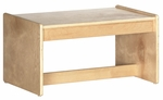 Birch Hardwood Preschool Living Room Set Coffee Table - 25''W x 15''D x 13''H [ELR-0683-ECR]