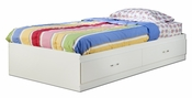Logik Collection Twin Mates Bed (39'') Pure White