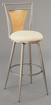 London 30'' Bar Height Stool with Textured Ivory Swivel Seat - Champagne [4183-830-FS-HILL]