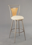 London 24'' Counter Height Stool with Textured Ivory Swivel Seat - Champagne [4183-826-FS-HILL]
