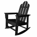 POLYWOOD® Long Island Collection Long Island Rocker - Black [ECR16BL-FS-PD]