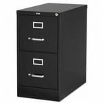 Lorell 2 Drawer 26.5''D Vertical File - Black [LLR60194-FS-SP]