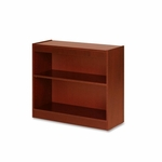 Lorell 2 Shelf Panel Bookcase - 36''W x 12''L x 30''H - Cherry [LLR89050-FS-SP]