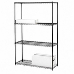 Lorell 4 Tier 36''W Wire Rack Shelving [LLR70060-FS-SP]