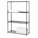 Lorell 4 Tier 48''W Wire Shelving [LLR70061-FS-SP]