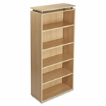 Lorell 5 -Shelf Bookcase - 36'' x 12 -1/2'' x 68 -3/4'' - Latte [LLR68724-FS-SP]