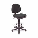 Lorell Adjustable Multi Task Stool - 24''W x 24''L x 50 -1/2''H - Black [LLR80008-FS-SP]