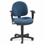 Lorell Adjustable Task Chair - 24''W x 24''L x 38''H - Blue [LLR80006-FS-SP]