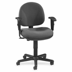 Lorell Adjustable Task Chair - 24''W x 24''L x 38''H - Gray [LLR80005-FS-SP]