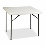 Lorell Banquet Table - 250 lb Capacity - 36''W x 36''L x 29''H - Platinum [LLR60328-FS-SP]
