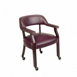 Lorell Berkeley Series Captain Chair with Casters [LLR60601-FS-SP]