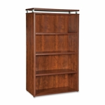 Lorell Bookcase - 4 -Shelf - 36''W x 12 -1/2''L x 48''H - Cherry [LLR68721-FS-SP]
