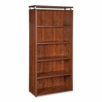 Lorell Bookcase - 5 -Shelf - 36''W x 12 -1/2''L x 68''H - Cherry [LLR68723-FS-SP]