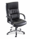 Lorell Bridgemill Leather Executive High Back Chair [LLR60502-FS-SP]